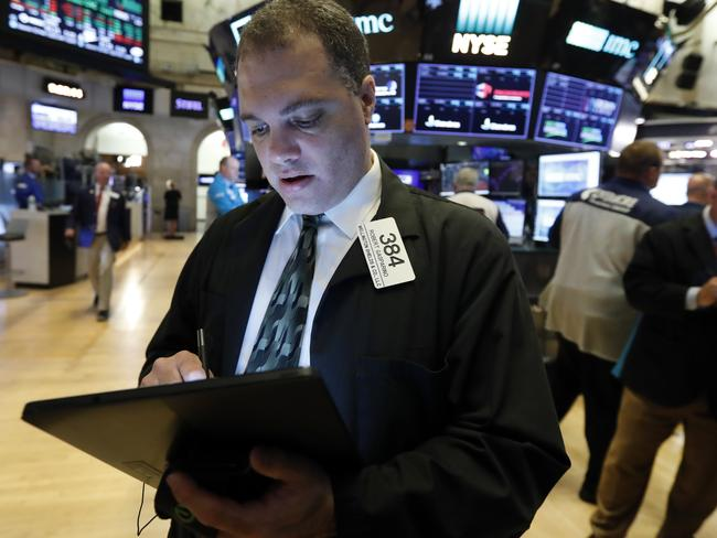 Stock prices rose on Thursday as investors braced for the next development in the U.S.-Chinese trade war, which has caused volatility in world markets this week. Picture: AP