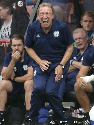 Cardiff City manager Neil Warnock on the touchline during the match against Bournemouth during their English Premier League soccer match at the Vitality Stadium. Picture: AP