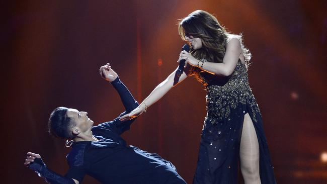 Ira Losco has a modern-sounding entry for Eurovision. Picture: AFP