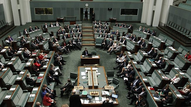 The motion to remove Peter Slipper as Speaker in Question Time in the House of Representatives was defeated by one vote 70-69. Picture: Kym Smith
