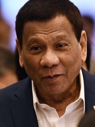 Philippines' President Rodrigo Duterte. Picture: Lillian Suwanrumpha/AFP