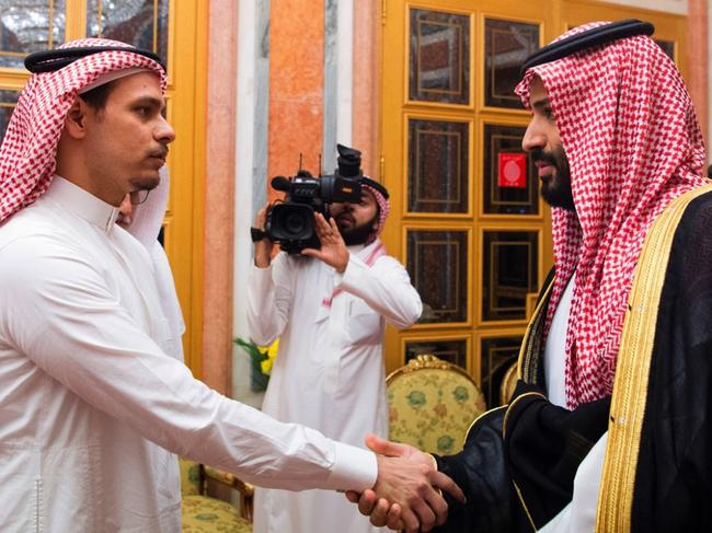 The prince met with Jamal Khashoggi's son, Salah, in the weeks following the journalist's disappearance. Picture: AP