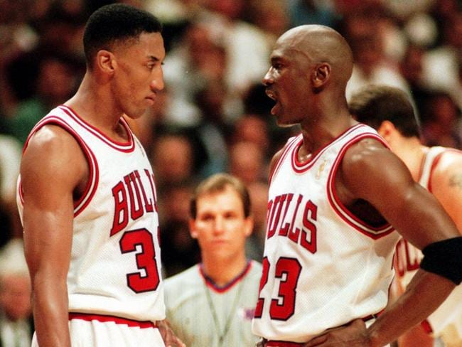 Scottie Pippen and Michael Jordan were competitive on and off the court.