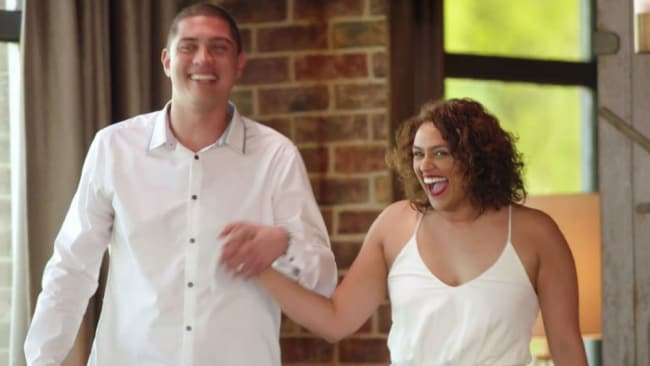 Matching outfits already? Patrick and Charlene are going great guns. Photo: Channel 9