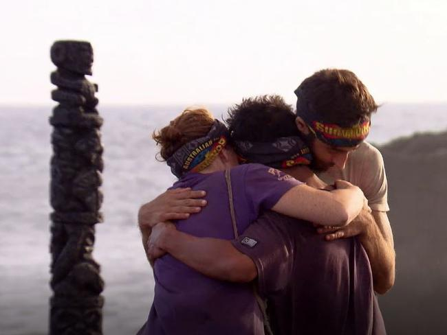 The final three contestants on Australian Survivor. Picture: Supplied/Ten