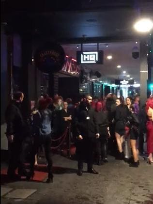 The packed Adelaide club was evacuated.