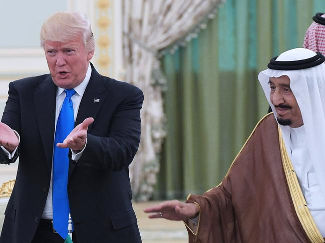 US President Donald Trump saad Saudi Arabia agreed to step up oil production but the US will increase its own production of crude oil, surpassing Saudi Arabia's. Picture: AFP Photo