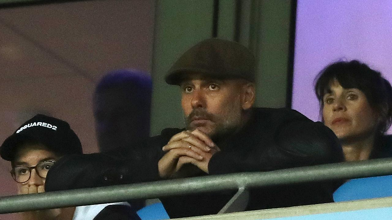 Pep Guardiola will return from his touchline ban.