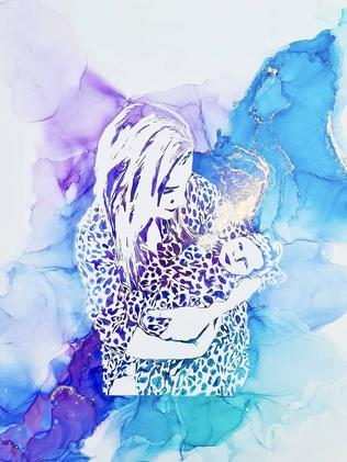 An example of Gina Jones' breast milk artwork.