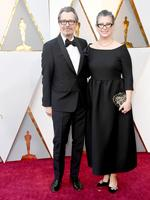 Gary Oldman and Giselle Schmidt. Photo: Getty