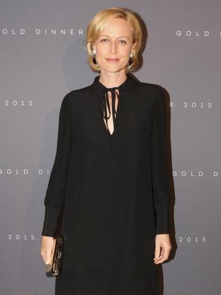 Looking chic in Armani: Marta Dusseldorp at the Gold Dinner.
