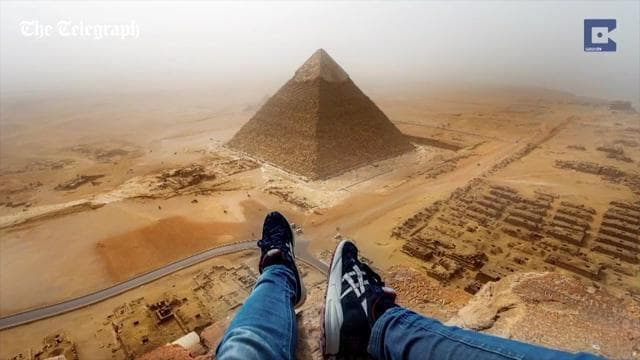 German tourist banned from Egypt after climbing Giza pyramid