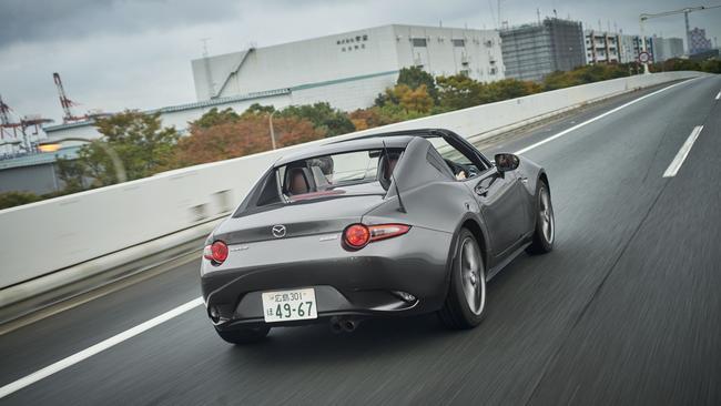 Photo of the 2016 Mazda MX-5 RF on the freeway.
