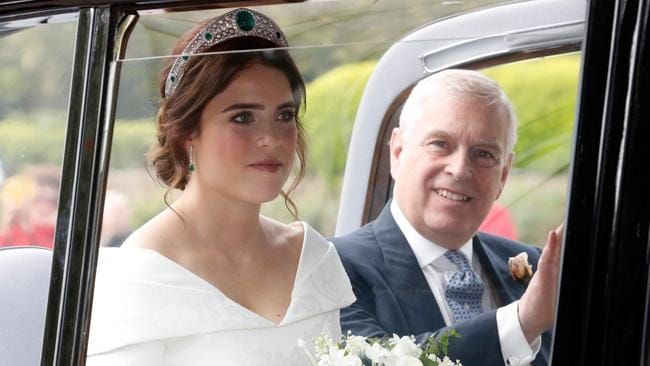 Excellent Prince Andrew photobomb there. Picture: Getty