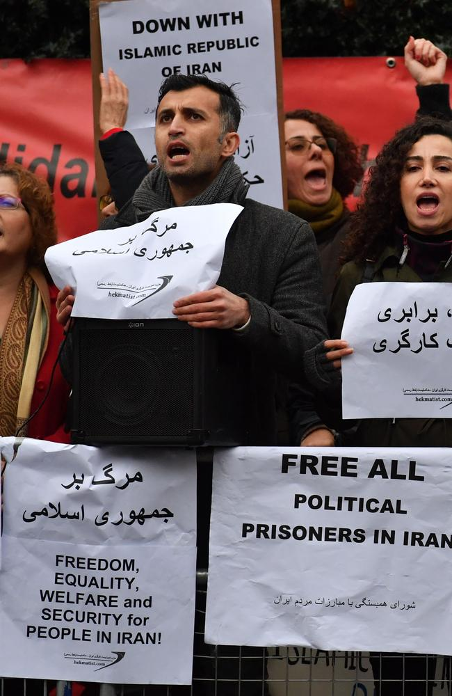 Protesters are calling for 'freedom, equality and welfare' for Iran nationals. Picture: AFP