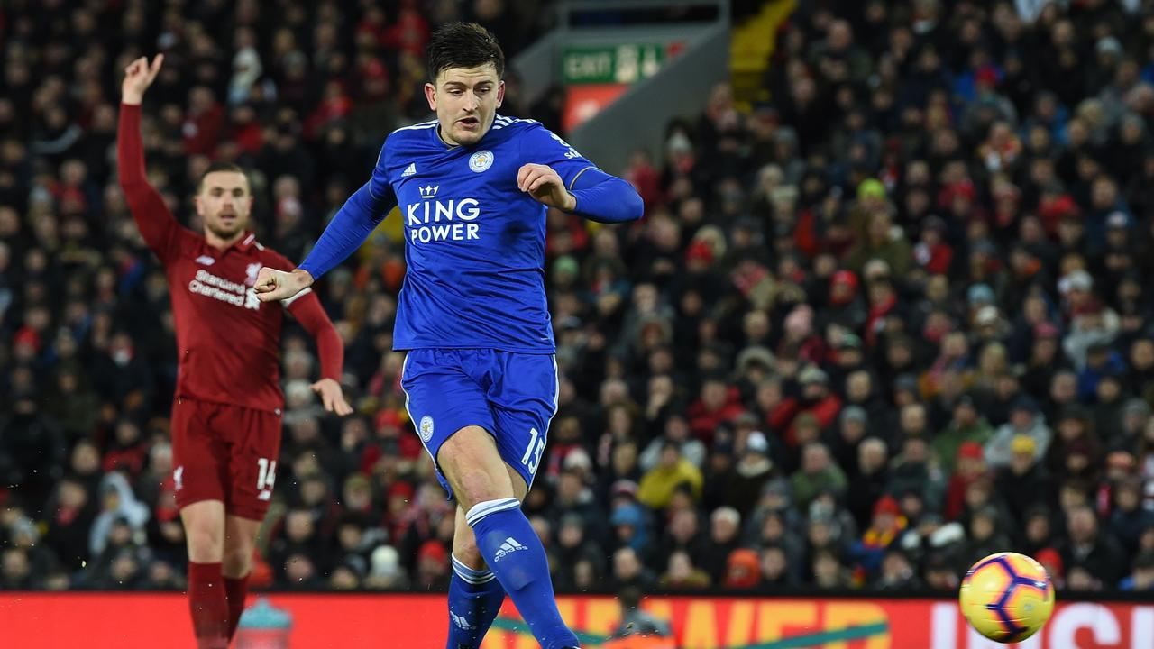 United fans would love to see Harry Maguire repeat his goalscoring feats against Liverpool for the Red Devils. (Photo by Paul ELLIS / AFP)