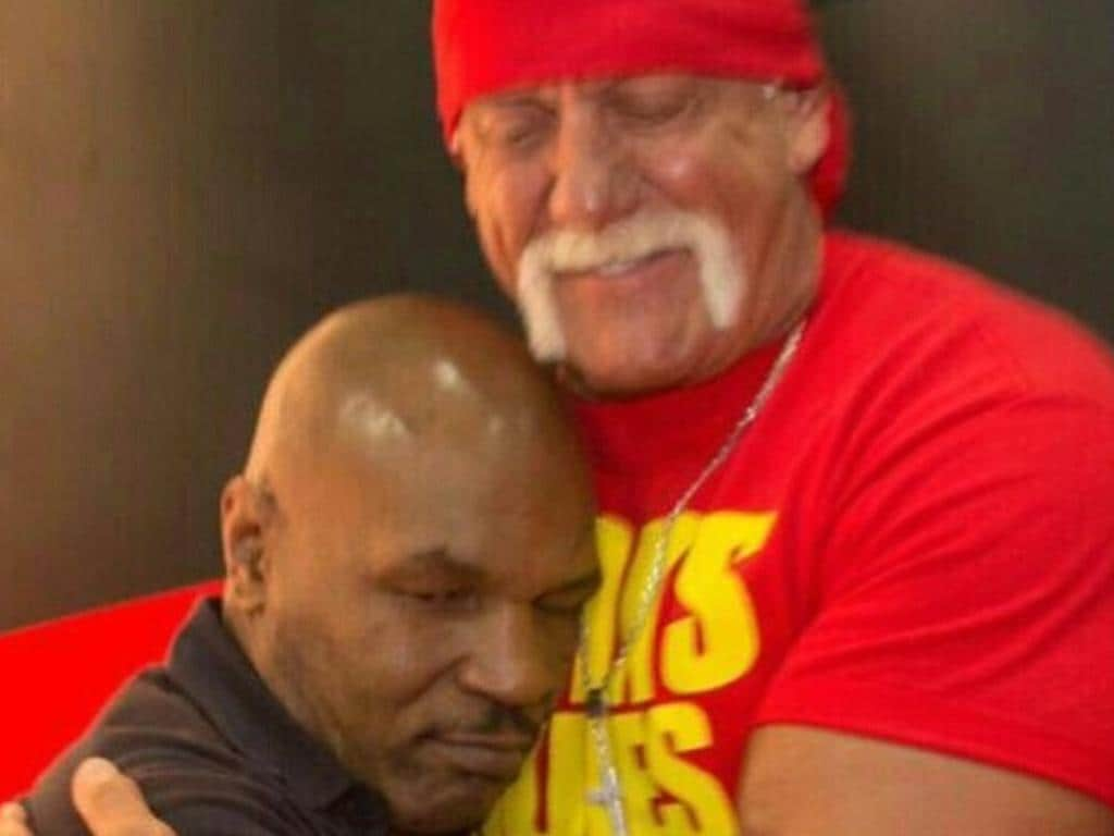 Hulk Hogan shares pic with Mike Tyson