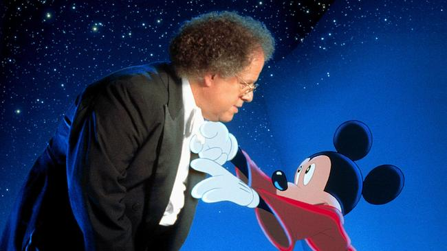 James Levine and Mickey Mouse in a Fantasia performance. Picture: News Corp