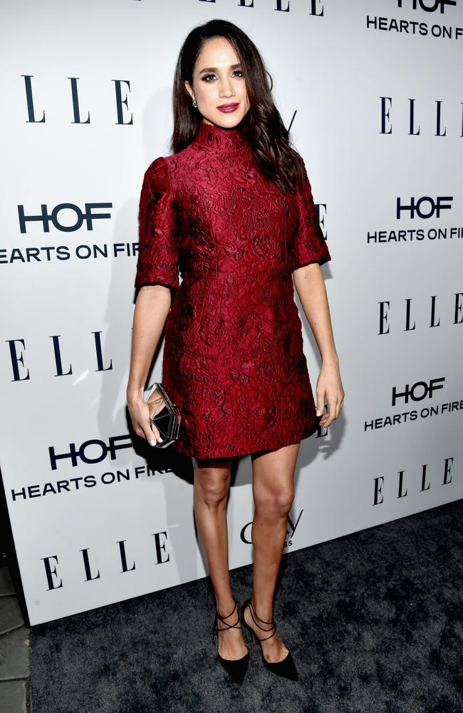Meghan Markle attends ELLE's 6th Annual Women In Television Dinner at Sunset Tower Hotel in West Hollywood last year. Picture: Getty