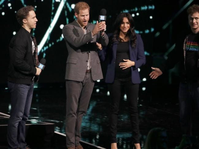 Prince Harry thrilled the crowd when he sprung his Meghan surprise.