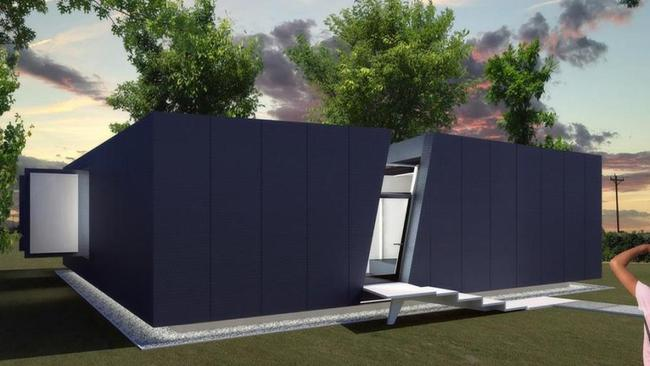 The Coloradoan's defence systems include firewalls, defensible space and double fire resistant vents. Exterior walls are made of an insulated concrete core that can stand tempretures of up to 1177 degrees. Picture: F9Productions.com