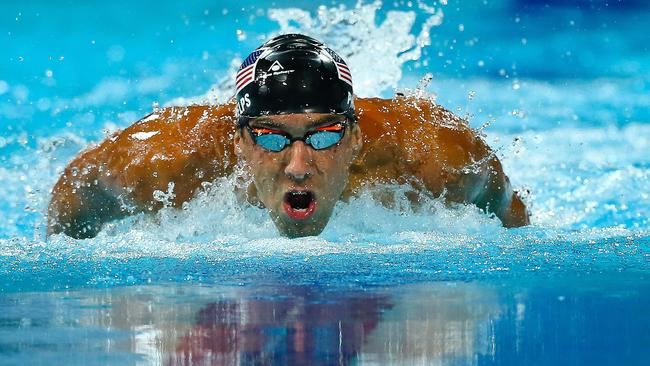 """United States swim star Michael Phelps called the conditions at the Gold Coast Aquatic Centre """"crazy"""" at one point during the Pan Pacific Championships - but it didn't stop him winning the 100-metre butterfly AFP PHOTO"""