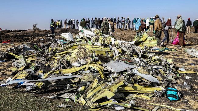 Less than six months later, the same plane model crashed and killed everyone on board minutes after taking off from Addis Ababa in Ethiopia. Picture: Michael Tewelde/AFP