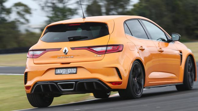 The Megane RS has four-wheel steering for better grip and control. Picture: Supplied.