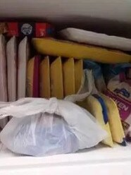 She also posted photos of the freezer stacked.