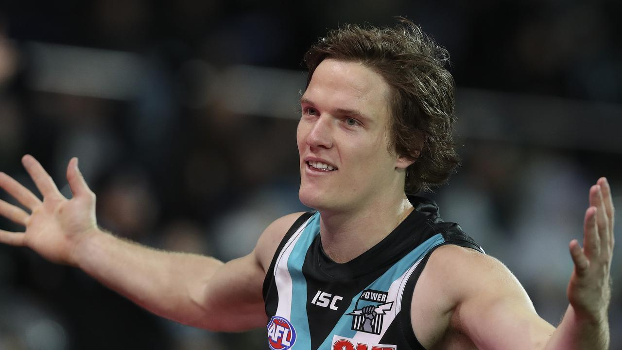 The Power are unsure if Jared Polec will remain in South Australia after this season. Photo: Sarah Reed