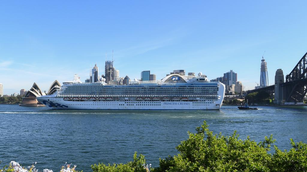 The Ruby Princess was allowed to dock despite reports of COVID-19 symptoms on board.