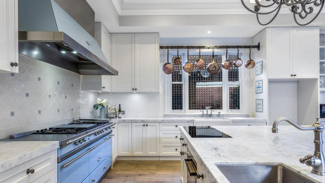 The kitchen features a $50,000 oven.