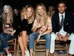 Immy Waterhouse, Suki Waterhouse, Behati Prinsloo and Johannes Huebl attend Tommy Hilfiger Women's Spring 2016 during New York Fashion Week. Picture: Getty