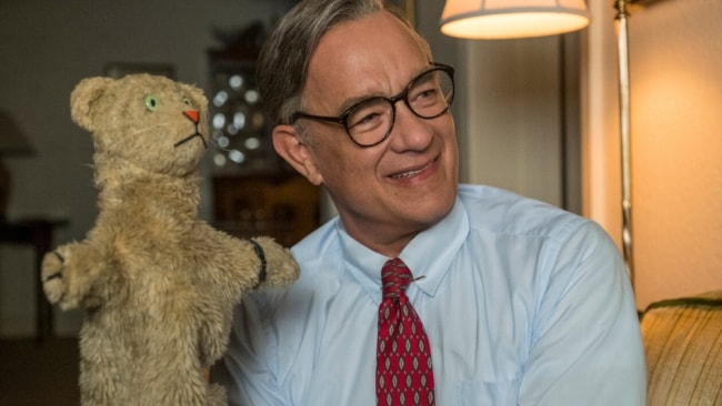 Tom Hanks plays Fred Rogers, the celebrated American children's entertainer. Image: Supplied