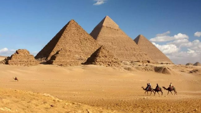 Ah, now we know exactly where it is. Giza, Egypt. Pictures: GoCompare