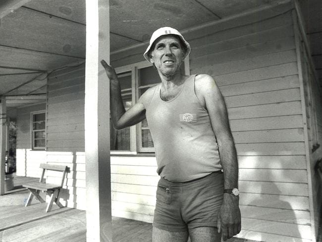 Pig farmer Ralph Vollmer (above) at his Antwerp farm house after the failed exorcism of his wife, moved to Queensland with his third wife. Picture: Kaine Pinder