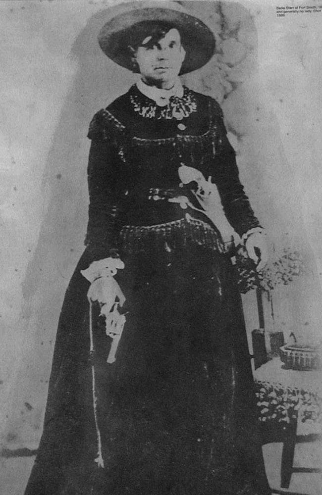 A studio portrait of Belle Starr probably taken in Fort Smith in the early 1880s. Picture: News Dog Media/australscope.