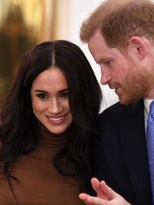 Meghan and Harry. Picture: AFP