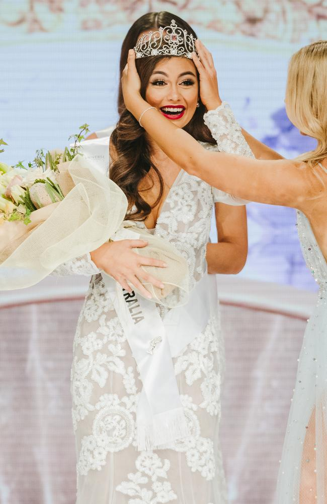 Miss Universe Australia 2018 Francesca Hung will go on to represent at the global event later this year.