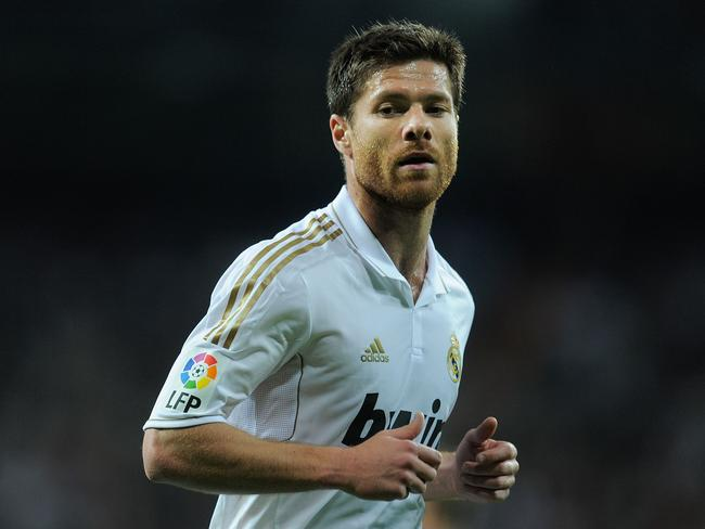 Xabi Alonso during his time with Real Madrid.