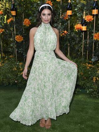 Lea Michelle wore a garden-inspired dress. Picture: Steve Granitz/WireImage