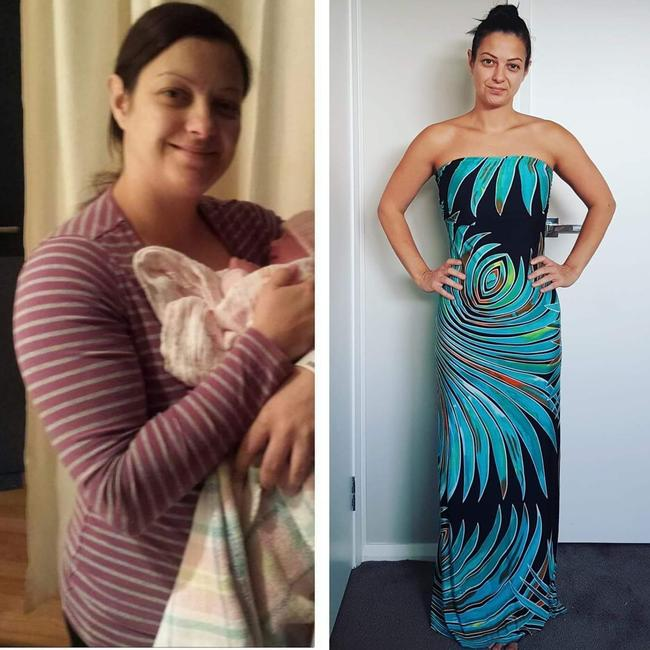 The mother-of-two weighed 66kg before her transformation.