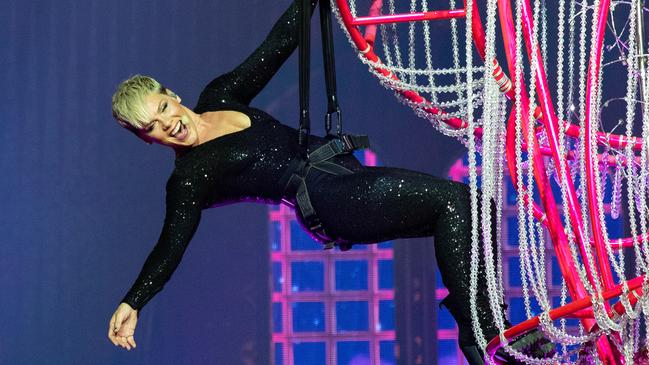 Pink promises a lively show that offers more than just standing on stage singing into a microphone. Picture: Richard Wainwright/AAP