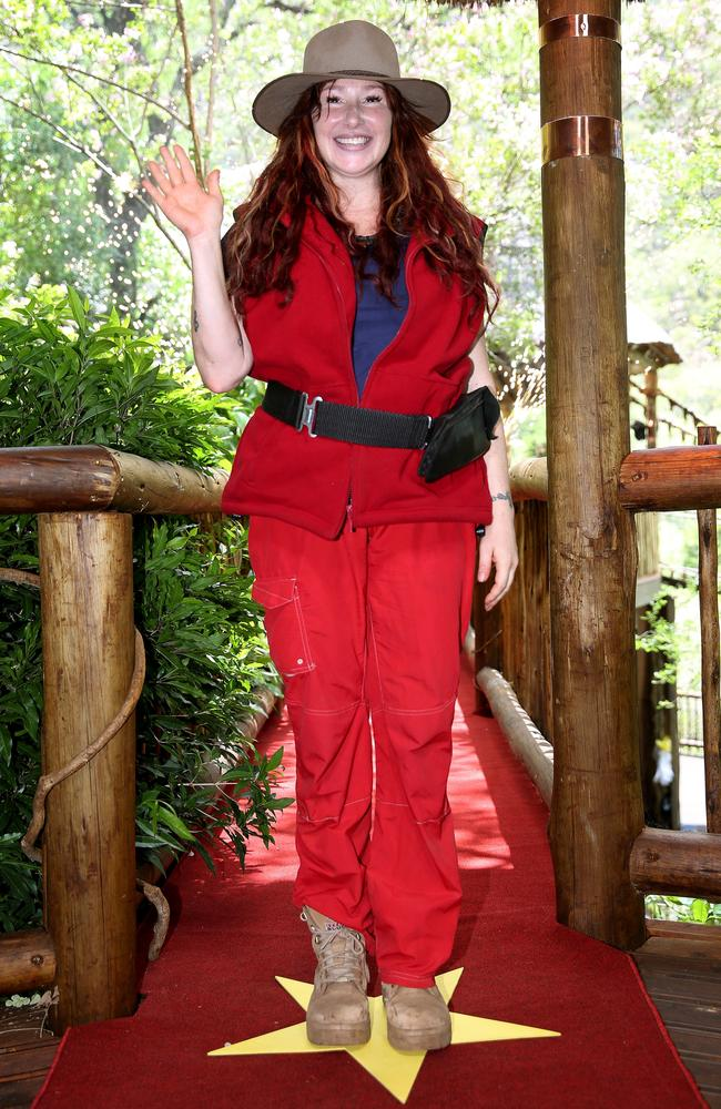 Tiffany after being voted off I'm a Celebrity. Picture: Ten/Nigel Wright