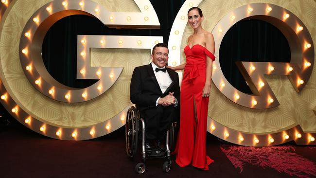 Sheridan Fearnley and Kurt Fearnley. Picture: Getty Images
