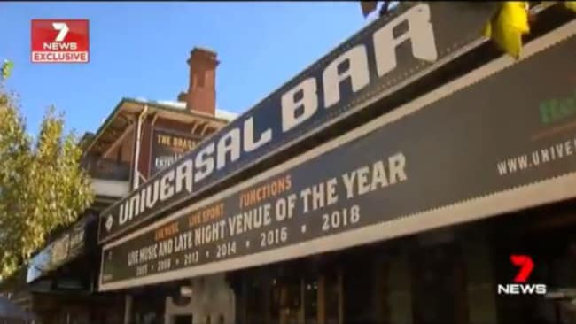 The club where the incident took place. Source: 7 News.