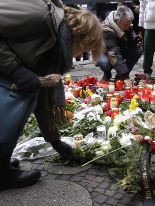 A memorial will be held at the site Tuesday evening as people flock to pay tribute. Picture: AP Photo/Matthias Schrader