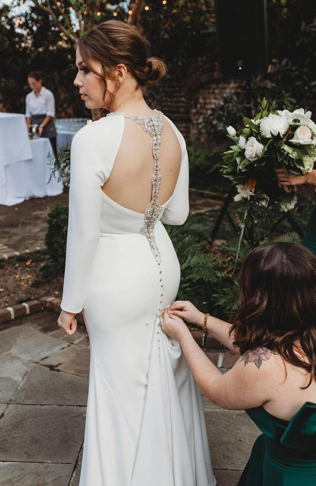 A wedding boutique wanted to charge her $US600 ($A850) for needing to order a bigger size.