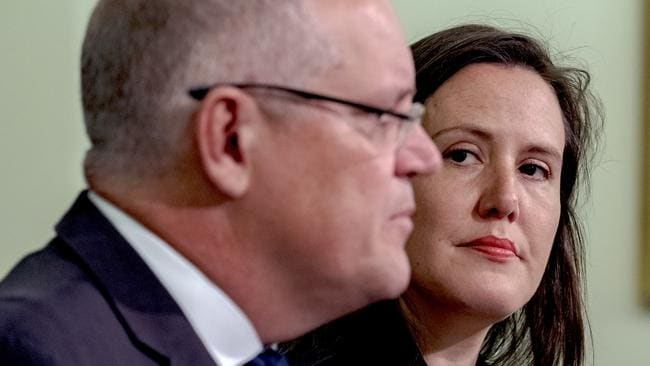 Treasurer Scott Morrison and Revenue Minister Kelly O'Dwyer. Picture: Luis Ascui/AAP