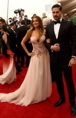"Sofia Vergara and Joe Manganiello attends the Met Gala 2015 ""China: Through The Looking Glass"". Picture: Getty"